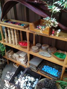 Bringing the indoors out at Puzzles Family Day Care ≈≈ http://www.pinterest.com/kinderooacademy/preschool-outdoor-play-environments/
