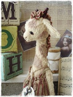 "PDF Instant Download - Pattern / E-Book Giraf "" POLLY "" :) - 7 Inch plus legs - by Eileen Seifert - Teddy-Manufaktur.de"