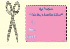 Haircut Gift Certificate Templates Free Printable Certificates How To Attract Customers