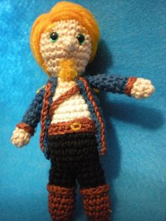 Guybrush Threepwood from Monkey Island. Not our work but I am sure my Mom could make this if she took the notion. (not likely)