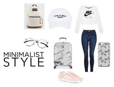 """""""peace"""" by melissatuan ❤ liked on Polyvore featuring NIKE, Topshop, adidas Originals, Nasaseasons, Heys, JanSport and Music Notes"""
