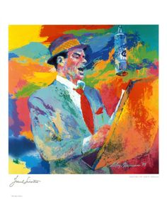 Frank Sinatra - by LeRoy Neiman. 1921-2012 Maybe I need to get back to painting....funtimes!