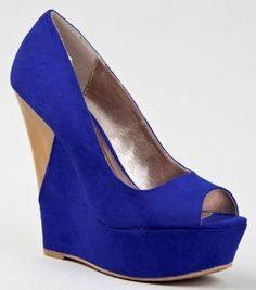 Qupid JUBILEE-16 Two Tone Colorblock High Platform Wedge Heel Slip On Sandal Pump - Price: $30.00