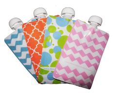 Reusable pouches for baby food puree. Genius.