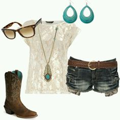 My swagg / i wish i could work cowboy boots. on We Heart It Country Girl Outfits, Country Girl Style, Country Fashion, Cowgirl Outfits, Cowgirl Boots, Country Girls, Country Chic, Cowgirl Style, Country Life