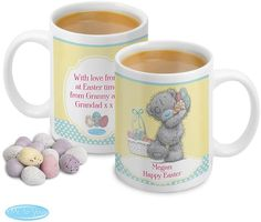 You can personalise this Easter Me To You mug with 2 lines of 15 characters per line to the front.