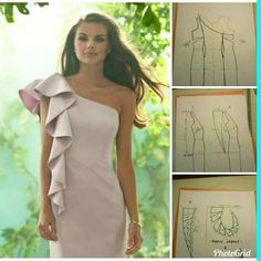 Image may contain: 1 person Corset Sewing Pattern, Barbie Knitting Patterns, Dress Sewing Patterns, Clothing Patterns, Fashion Sewing, Diy Fashion, Fashion Dresses, Sewing Clothes, Diy Clothes