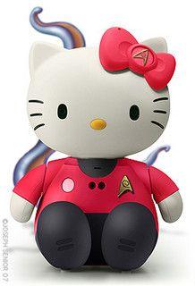 Hello Trek Kitty by yodaflicker, via Flickr