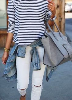 stripes + chambray + white #currentelliot