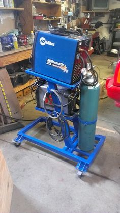 Show us your welding projects - Page 65 - The Garage Journal Board Welding Cart Plans, Welding Gear, Welding Shop, Diy Welding, Welding Table, Garage Tool Storage, Workshop Storage, Garage Workshop, Welded Metal Projects