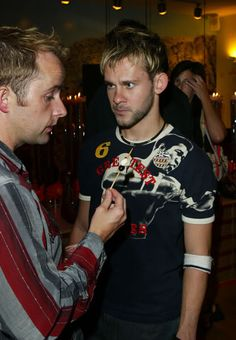 Billy Boyd & Dominic Monaghan. I love how intense Dom looks. And what is Billy holding?