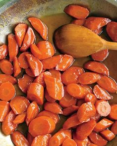 Honey-Glazed Carrots - Martha Stewart Recipes  I added parsnip to this to mix up the colour, very yummy