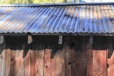 Corrugated metal roof panels are lightweight and remain sturdy for decades if properly handled and installed. The handling is especially important for galvanized corrugated panels, which can rust if Corrugated Metal Roof Panels, Corrigated Metal, Galvanized Metal Roof, Metal Awning, Corrugated Tin, Corrugated Roofing, Metal Panels, Zinc Roof, Rusty Metal