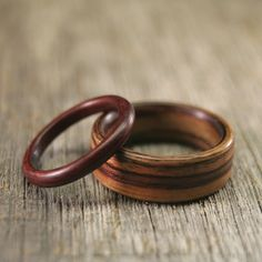 Wooden wedding bands. #wooden #wedding #bands