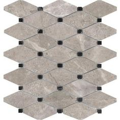 Shop Anatolia Tile Ritz Diamond Mosaic Marble Floor And Wall Common 12