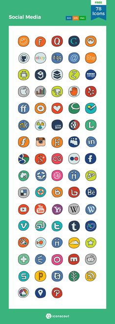 Doodle Icon, Free Icon Packs, Png Icons, Icon Collection, Social Media Logos, Icon Font, Cover Art, How To Draw Hands, Doodles