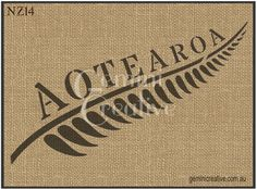 Aotearoa and Silver Fern Stencil from the New Zealand range of stencils. Designed and cut in Queensland. Laser cut 10mil Mylar.