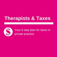 Let's just start by saying I am not a tax expert. I'm not a CPA, or an  accountant, or a bookkeeper. I'm a therapist, consultant, and small  business owner. I don't have a degree in business, so I learned a few  lessons the hard way. This particular lesson wasn't painful per se, but it  was important- so I'm excited to share it with you.  You need to plan for your taxes  Simple right? For those of you dutifully filing your quarterly taxes and  feeling smug right now- stick with me for a…