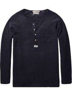 granddad tee with chest pocket | T-shirt l/s | Men Clothing at Scotch & Soda