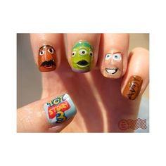 toy story fingernails - haha next time I get my nails done Toy Story 3, Toy Story Nails, Toy Story Party, Cute Nails, Pretty Nails, Hair And Nails, My Nails, Long Nails, Leopard Print Nails