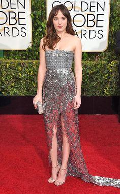 Dakota Johnson's glimmering Globes look certainly turned heads!