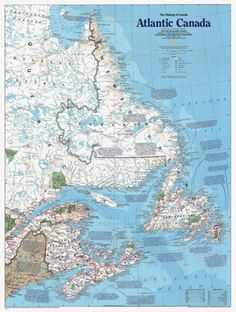 Atlantic Canada, The Making of, Tubed by National Geographic Maps