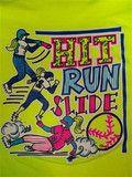 Southern Chics Funny Hit Run Slide Softball Sweet Girlie Bright T Shirt