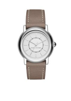 80b9fdcd03 Marc By Marc Jacobs Women s Women s Courtney Cement Leather Three-Hand  Watch - - No Size