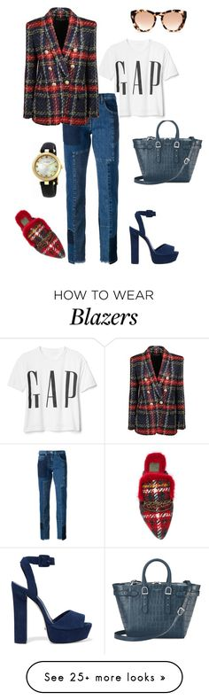 """""""Untitled #387"""" by mary-en on Polyvore featuring Aspinal of London, McQ by Alexander McQueen, Balmain, Schutz, Mr & Mrs Italy, Michael Kors, Gucci and autumn"""