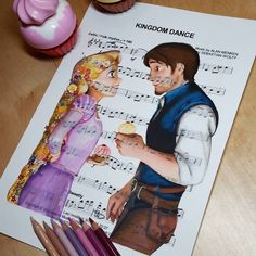 Kingdom Dance - Rapunzel & Flynn (Tangled) by Ursula Doughty