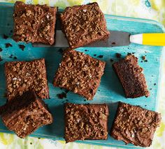 Not only are these chocolate squares a great way to use up a glut of courgettes, they're topped with rye crumbs and sea salt for a chocolate cake with a twist