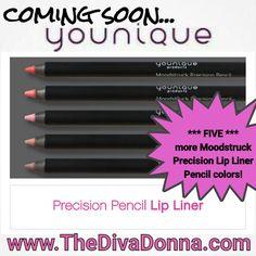 Younique #youniquecon2016 New products! 5 new Moodstruck Precision Lip Liner colors! www.thedivadonna.com