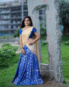 Beautiful Girl Photo, Beautiful Girl Indian, Beautiful Saree, Beautiful Outfits, South Indian Actress Photo, Indian Actress Photos, Most Beautiful Bollywood Actress, Beautiful Actresses, Half Saree Designs