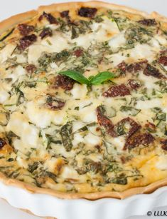 Quiche met courgette en geitenkaas Quiches, Pisa, Vegan Quiche, Sorrento, Frittata, Main Dishes, Breakfast, Recipes, Falling Waters