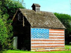 I love old Barns....and our flag together....being raised on a farm to me this speaks volumes....