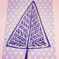 Christmas tree... Origami paper and Lino prints by Ellie Mummery.  Great to use printed paper !!!! Awesome.