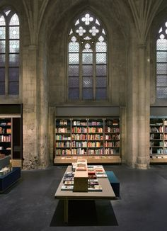 One branch of the popular Dutch bookstore chain Selexyz can be found right inside of a 13th century Dominican church in Maastricht, Holland. The project known as Selexyz Dominicanen Maastricht, was designed by architecture firm Merkx + Girod.