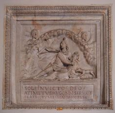 Dedication to Mithras by the Imperial slave Atimetus; a great number of inscriptions from around the Empire record votive offerings from slaves and freedmen