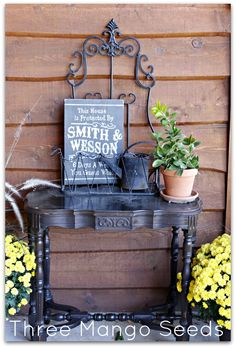 FRONT PORCH DECOR - need to make the sign!!