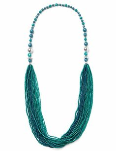 Rich in color, this long, draping necklace has a color bead strand with goldtone spacers and etched beads that lead a to multi-row seed bead design below for a bright, sunset-inspired look. Slip it over any of our beautiful maxis or blouses this season. Customized in size and scale for the plus size woman. For your comfort, all Catherines jewelry is free of lead and nickel. catherines.com