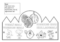 Yerli malı taç Classroom Activities, Kids House, Gifts For Kids, Malta, Coloring Pages, Preschool, Diagram, Black And White, Education