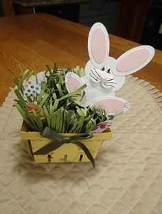 A cute little Easter basket using the Stampin' Up Berry Basket.  Visit www.stamponwithheart.blogspot.com for more details