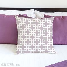 Squares Pattern Stencil - Buy reusable wall stencils online at The Stencil Studio