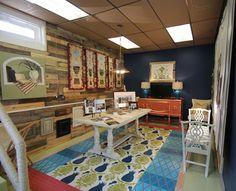 Gorgeous stenciled vinyl rug project by Dee Cunningham of Deelite Design (me! Painted Floor Cloths, Stenciled Floor, Stencil Rug, Stencils, Painted Concrete Floors, Vinyl Rug, Cheap Rugs, Chalk Paint Furniture, Floor Rugs