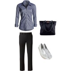 Simple, casual interview outfit