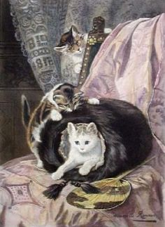 The Pampered and Playful Cat Paintings of Victorian-Era Artist Henriette Ronner-Knip