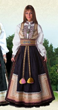 Telemark bunad Folk Costume, Costumes, Lofoten, Traditional Dresses, Norway, Ethnic, Russia, Culture, How To Wear