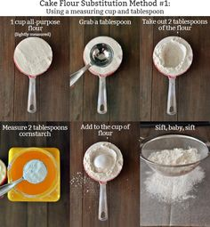 How to Make Cake Flour....Two easy methods to make your own cake flour; no reason to dread recipes that call for cake flour anymore. Hooray!