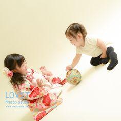 #LOVST#ラブスト#勝どき#子供写真スタジオ#ハウススタジオ #1歳#着物#被布#七五三3歳 #姉妹