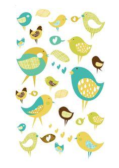 Love birds Tisková reprodukce autorské ilustrace vhodná jako dekorace do dětských prostor. Velikost tisku A3, papír vyšši gramáže. Možné objednat i v jiné velikosti: A4, A2. Bez rámu, bez pasparty. Dodáno v tubusu.